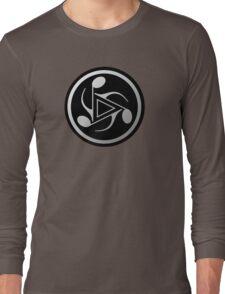 Music Notes Gray Long Sleeve T-Shirt
