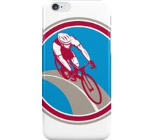 Cyclist Bicycle Rider Circle Retro iPhone Case/Skin