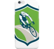 Cyclist Bicycle Rider Shield Retro iPhone Case/Skin