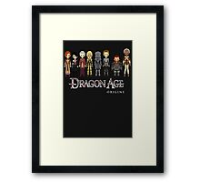 Dragon Age Origins Party Framed Print