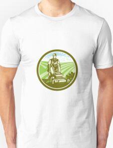 Ride On Lawn Mower Vintage Retro Unisex T-Shirt