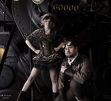 At the station by gosteampunk