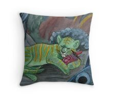 Timid Tiger Throw Pillow