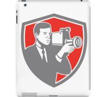 Video Cameraman Shooting Vintage Shield Retro iPad Case/Skin