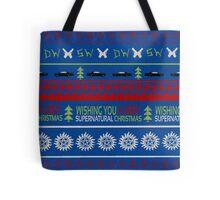 Supernatural Christmas Sweater Tote Bag