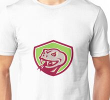 Viper Snake Serpent Head Shield Retro Unisex T-Shirt