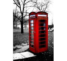 Phone Box Photographic Print