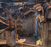 Roofs at sunset by Antoine Beyeler