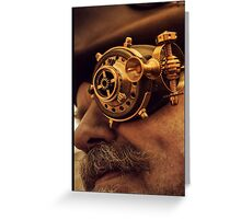 Steam punk pirate Greeting Card