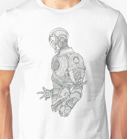 Robot in wonderland Unisex T-Shirt