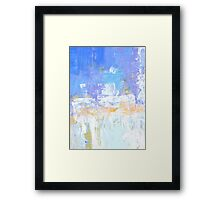Blue aqua abstract no 45 Framed Print