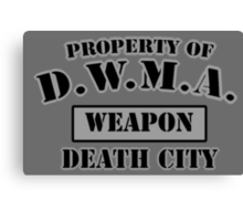D.W.M.A. Weapon Uniform Canvas Print
