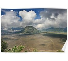 The top of Mountain Bromo Poster