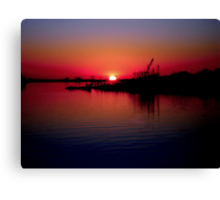 Monkey Island Sunset Canvas Print