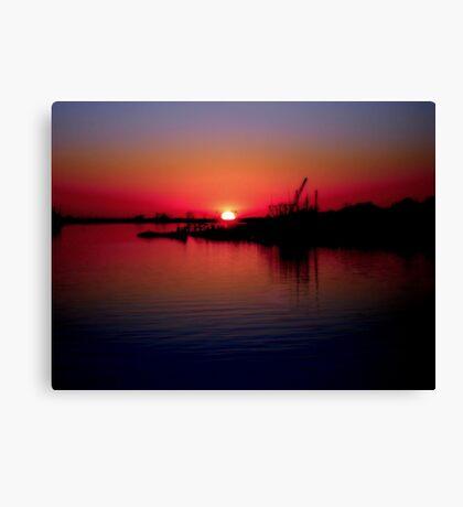 Monkey Island Sunset Canvas Print