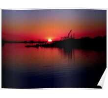 Monkey Island Sunset Poster