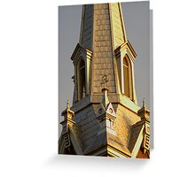 Gothic Gold Greeting Card