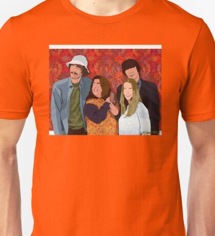 The Mamas and the Papas (Digital Fabric Collage)  Unisex T-Shirt