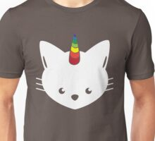 Unicorn Cat with Rainbow Horn Unisex T-Shirt