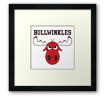 Frostbite Falls Bullwinkles Framed Print