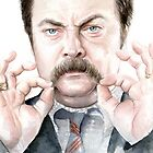 Ron Swanson Portrait by OlechkaDesign