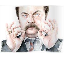 Ron Swanson Portrait Poster