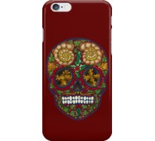 Winter skull holly king, red iPhone Case/Skin