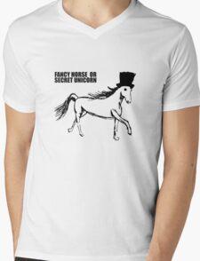 Secret Unicorn Mens V-Neck T-Shirt