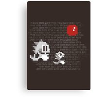 Bubble Bobble Banksy Canvas Print