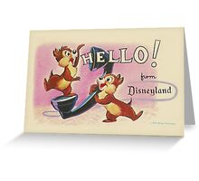 Hello Chip 'n' Dale Greeting Card