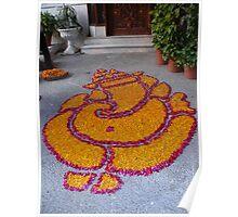 Rangoli for Diwali - Lord Ganesh Poster