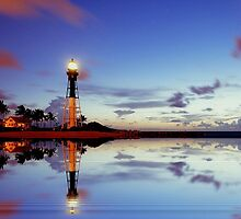 Lighthouse point reflected by joemc
