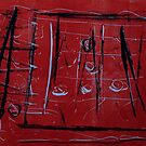 Red and black xo by Susan Grissom