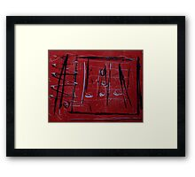 Red and black xo Framed Print