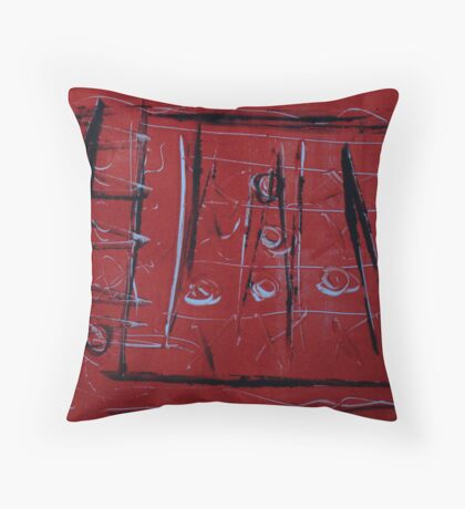 Red and black xo Throw Pillow