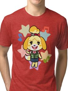 Isabelle of Animal Crossing Tri-blend T-Shirt
