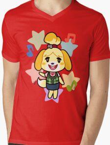 Isabelle of Animal Crossing Mens V-Neck T-Shirt