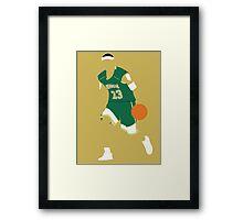 Lebron James High School Framed Print