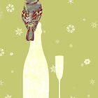 Bird sitting on a champagne glass by Giulia Landonio