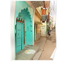 Street in Delhi Poster