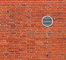 Red bricks wall by Ron Zmiri