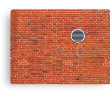 Red bricks wall Canvas Print