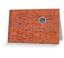 Red bricks wall Greeting Card