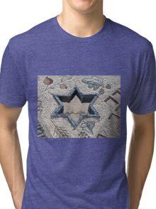 Star of David  in mosaic - Judaism Tri-blend T-Shirt