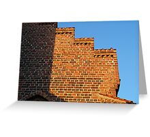 Details of bricks wall background Greeting Card