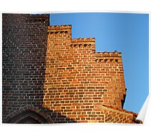 Details of bricks wall background Poster