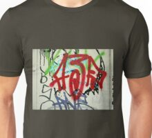 Graffiti on a white wall Unisex T-Shirt