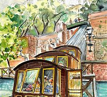 The Funicular From Budapest by Goodaboom