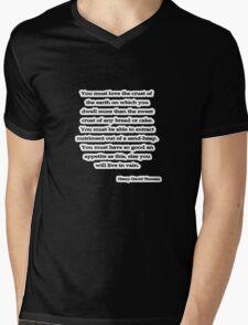 You must love, Thoreau Mens V-Neck T-Shirt
