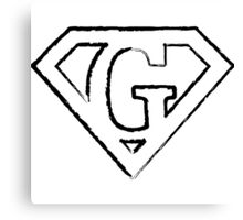 G letter in Superman style Canvas Print